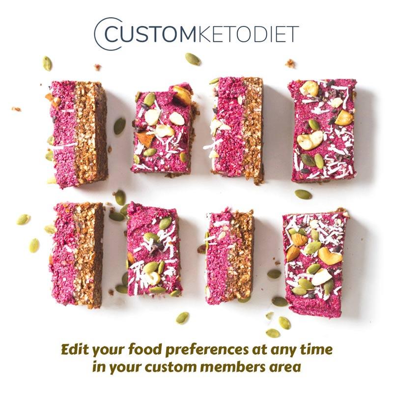 custom keto diet cakes